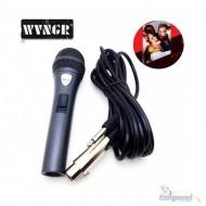 Microfone Wg-38 Dinâmico Profissional Com Fio Cabo 4 Metros